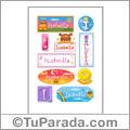Nombre Isabella para stickers