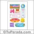 Nombre Máxima para stickers