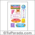 Felicia, nombre para stickers