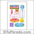 Isagleidis, nombre para stickers
