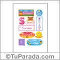 Surama, nombre para stickers