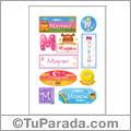Mayrani, nombre para stickers