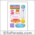 Sharon, nombre para stickers