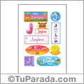 Jaylen, nombre para stickers