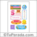 Sahaddai, nombre para stickers