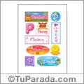 Pauley, nombre para stickers