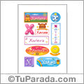 Xaviera, nombre para stickers
