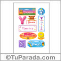 Yaneira, nombre para stickers