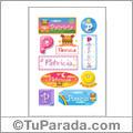Nombre Patricia para stickers