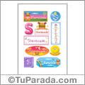 Sherezade, nombre para stickers