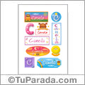 Canela, nombre para stickers