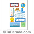 Luca - Para stickers