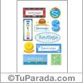 Santiago - Para stickers