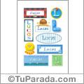 Lucas - Para stickers