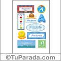Nombre Augusto para stickers