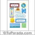 Nombre Norberto para stickers