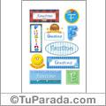 Faustino, nombre para stickers