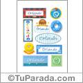 Nombre Orlando para stickers