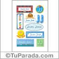 Nombre Juan José para stickers