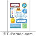 Nombre Gregorio para stickers