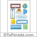 Pritham, nombre para stickers