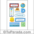 Dorcas, nombre para stickers