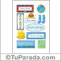 Juan Jorge, nombres para stickers