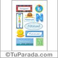 Nombre Natanael para stickers