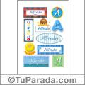 Nombre Alfredo para stickers