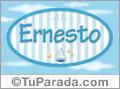 Nombre Ernesto de bebé, para imprimir