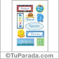 Renzo, nombre para stickers