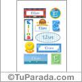 Nombre Elías para stickers