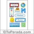 Nombre Matías para stickers