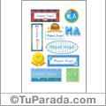 Nombre Miguel Ángel para stickers
