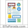 Nombre Octavio para stickers