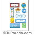 Nombre Cirilo para stickers