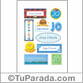 Jorge Orlando, nombres para stickers