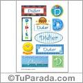Didier, nombre para stickers