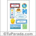 Nino, nombre para stickers