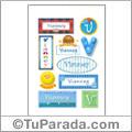 Vianney, nombre para stickers