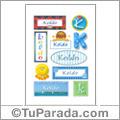 Koldo, nombre para stickers