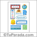 Rosendo, nombre para stickers