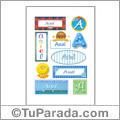 Asiel, nombre para stickers