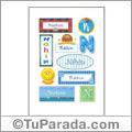 Nahin, nombre para stickers
