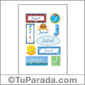 Jaziel, nombre para stickers