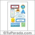 Asbai, nombre para stickers
