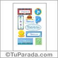 Patricio, nombre para stickers