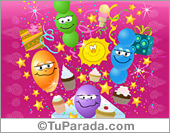 Tarjeta - Tarjeta expandible: Cumpleaños con globos