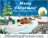 Ecard - Expandable eCard: Merry Christmas
