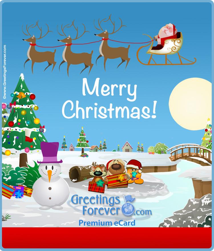 Ecard - Expandable eCard: Merry Christmas